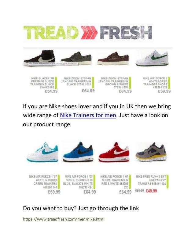 Nike trainers for men Treadfresh.com