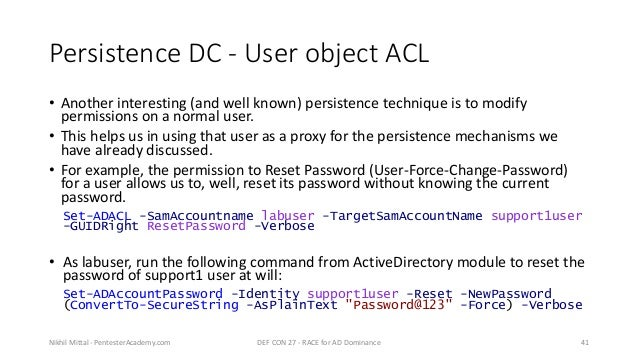 RACE - Minimal Rights and ACE for Active Directory Dominance