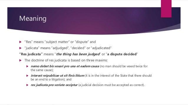 res judicata and estoppel