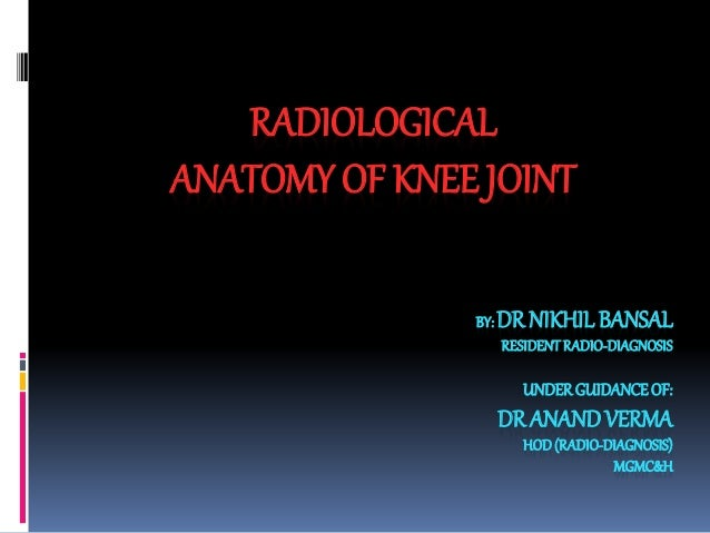 Mri knee joint anatomy mri knee joint anatomy by dr nikhil bansal residentradio diagnosis underguidanceof dr anandverma hodradio ccuart Images