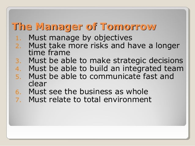 peter drucker six step decision making Peter f drucker, created a list of five steps to help an administrator organize decision making those steps are: (1) define the problem, (2.