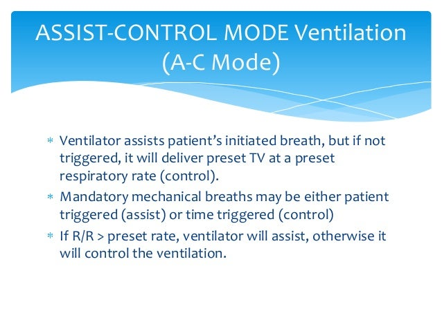 modes of ventilation
