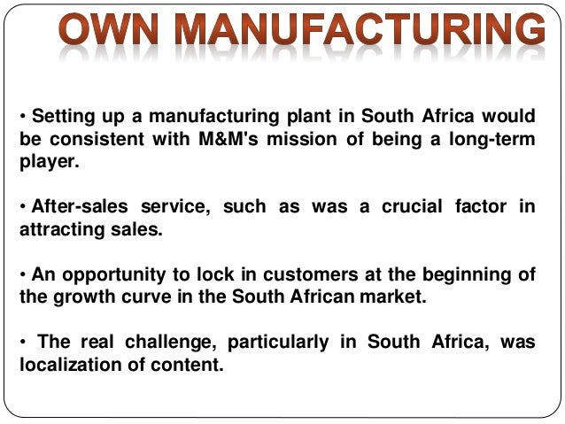 Mahindra Mahindra in South Africa Case Study Help - Case ...