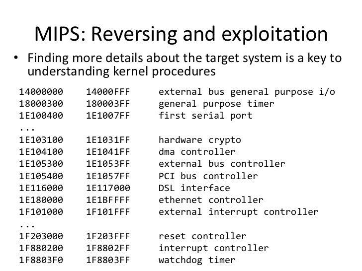 Nikita Abdullin - Reverse-engineering of embedded MIPS