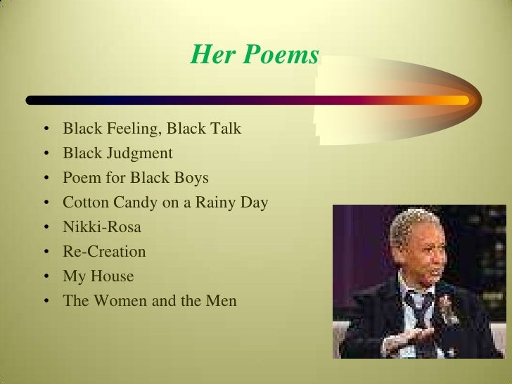 Nikki giovanni the struggle of an african american woman