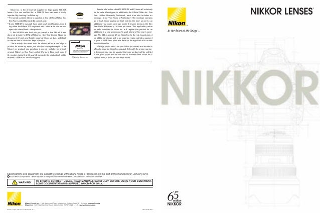 Nikon Inc. is the official US supplier for high-quality NIKKOR lenses. You can confirm that a NIKKOR lens has been officia...