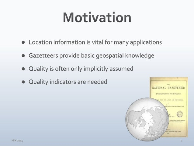 Surveying GeoNames Gazetteer Data for the Nordic Countries Slide 2