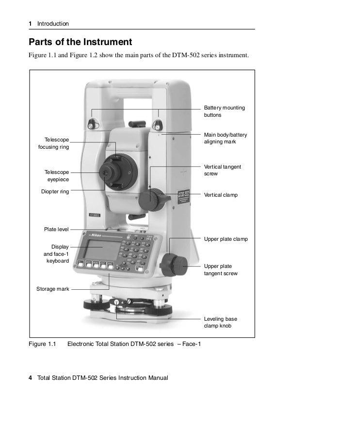 nikon dtn502 instruction manual english rh slideshare net Nikon 332 Total Station Specs Nikon NPL 322 5 Reflectorless Total Station