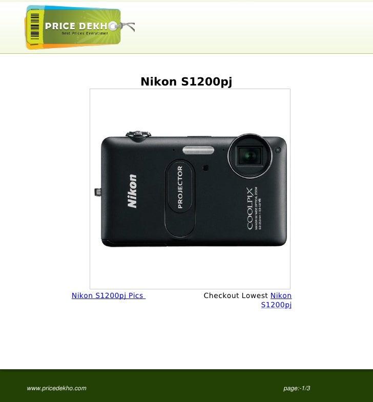 Nikon S1200pj             Nikon S1200pj Pics       Checkout Lowest Nikon                                                  ...
