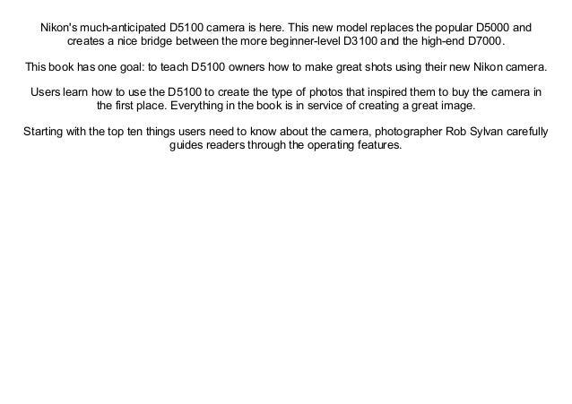 Nikon D7100 From Snapshots To Great Shots Pdf