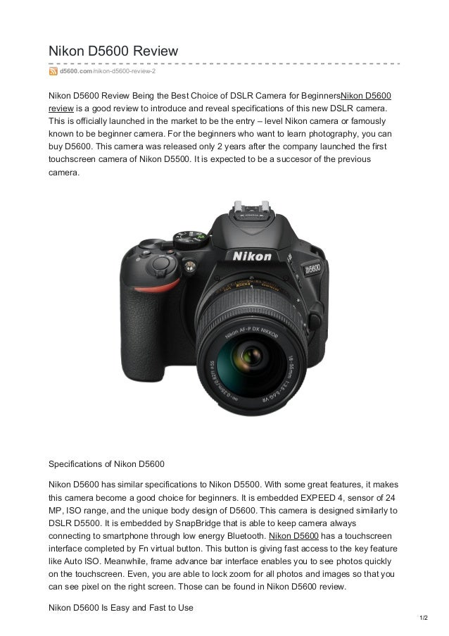 Nikon d5600 reviews on sales Get the Best Prices