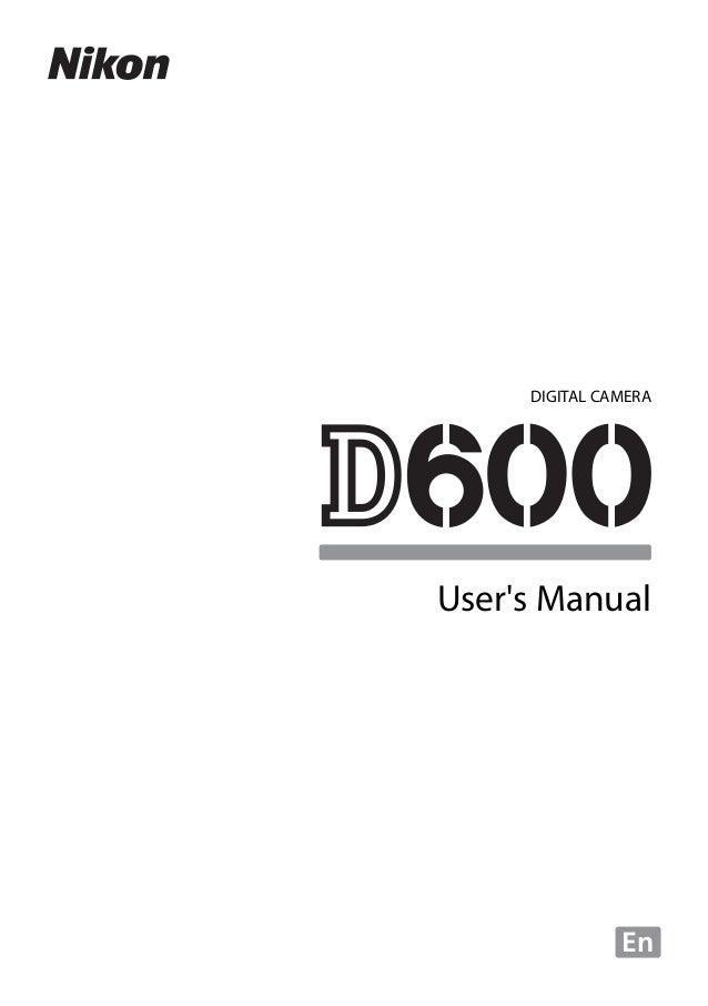 nikon d600 user manual rh slideshare net nikon d600 user manual pdf nikon d600 user manual pdf