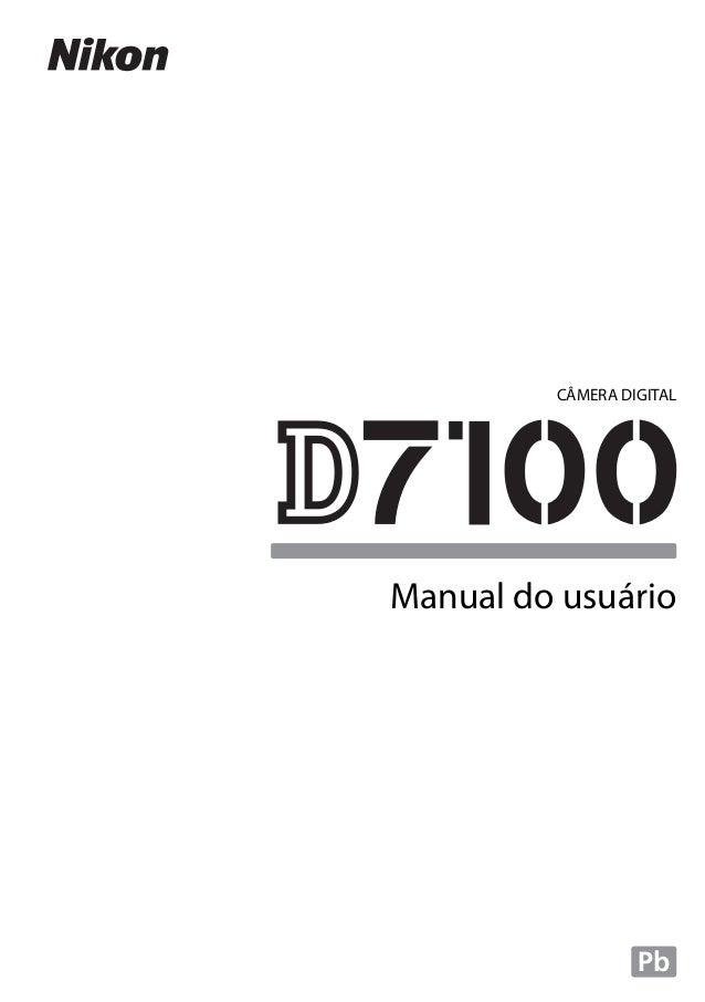 Manual Câmera Nikon D7100