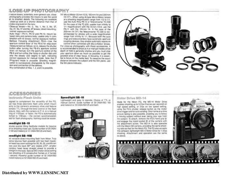 nikon fg camera manual professional user manual ebooks u2022 rh gogradresumes com Nikon FG ManualDownload Nikon FG Camera Manual
