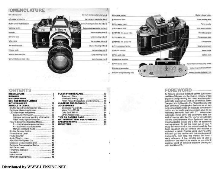nikon fg manual rh slideshare net Nikon FG Tutorial Nikon FG ManualDownload