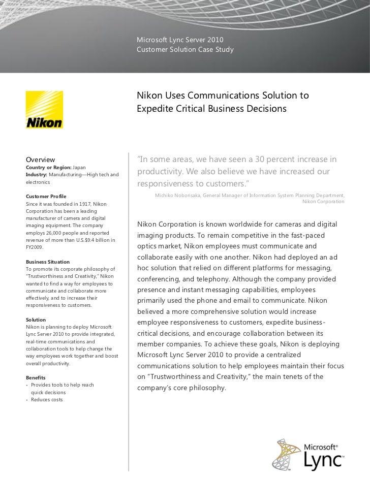 Microsoft Lync Server 2010                                           Customer Solution Case Study                         ...