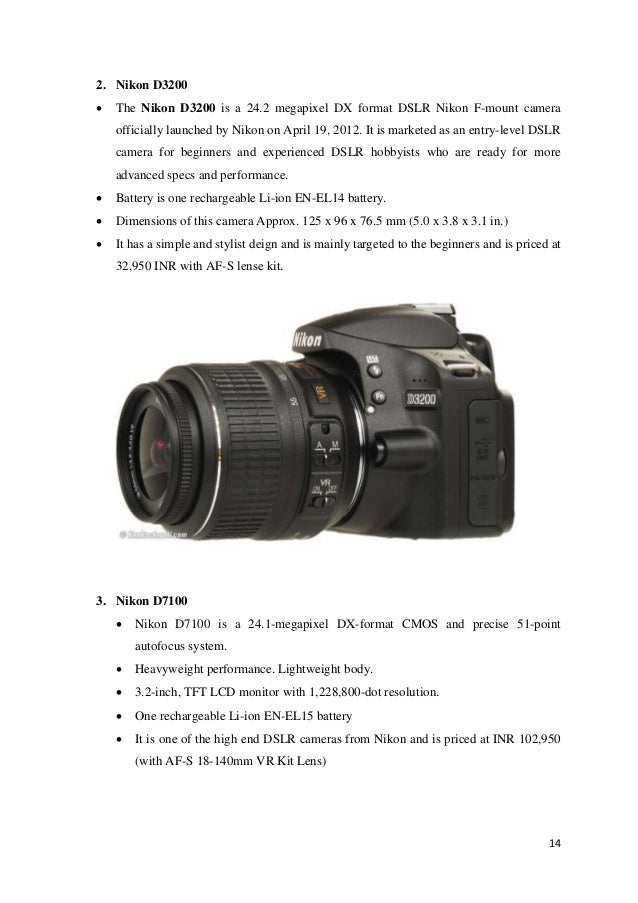 Comparative study on DSLR Camera Brands in India