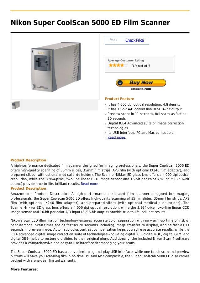 Nikon Super CoolScan 5000 ED Film Scanner                                                                 Price :         ...