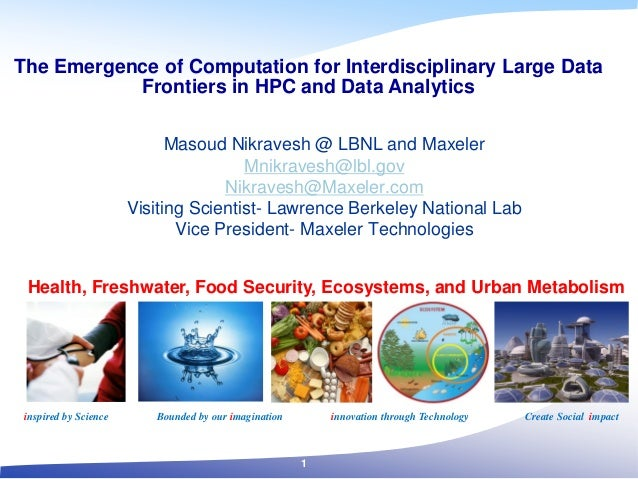 The Emergence of Computation for Interdisciplinary Large Data Frontiers in HPC and Data Analytics inspired by Science Boun...