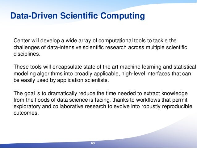 Center will develop a wide array of computational tools to tackle the challenges of data-intensive scientific research acr...