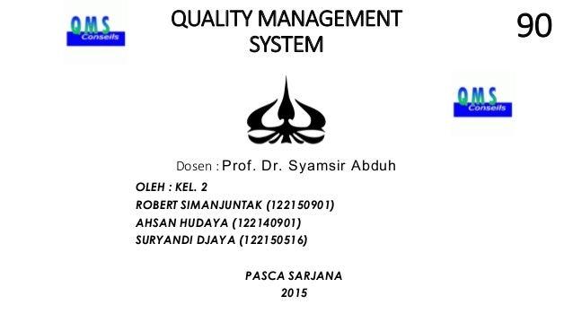 Nilai presentasi kelompok 2 magister manajemen prof. syamsir abduh