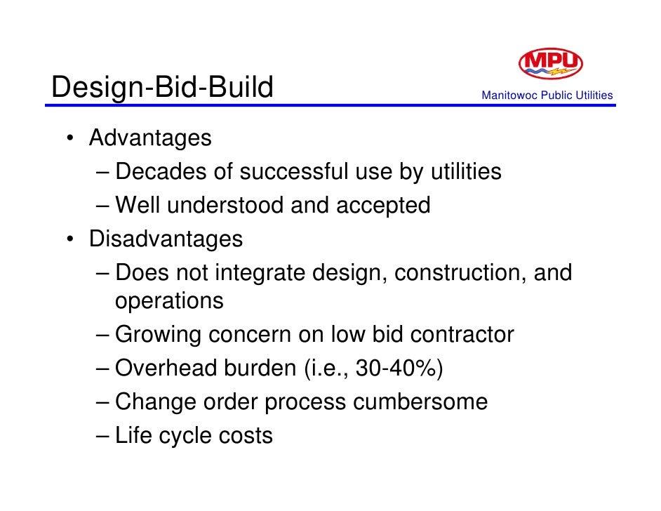 Progressive Design Build Disadvantages