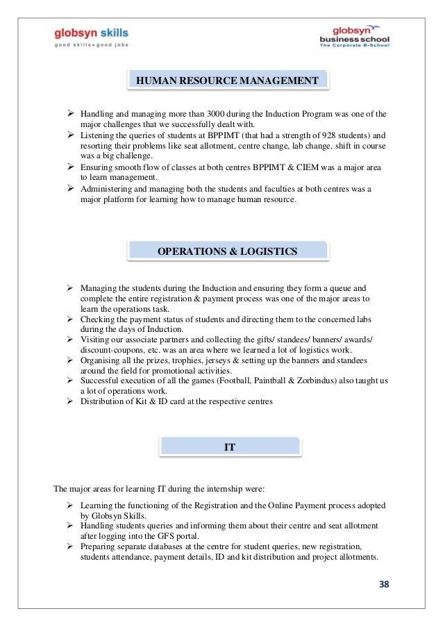 Internship Final Report on Globsyn Skills Development Ltd