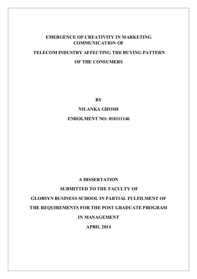 telecom dissertation Phd dissertation (submitted fall, 2009), chintan vaishnav, mit please do not quote without the author's permission page 1 the end of core: should disruptive innovation in telecommunications invoke telecom regulators worldwide as the unregulated internet technologies.