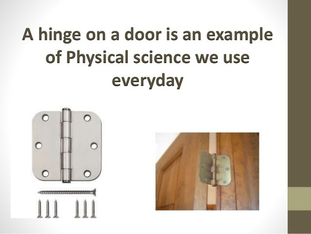 Physical Science Examples Everyday Life