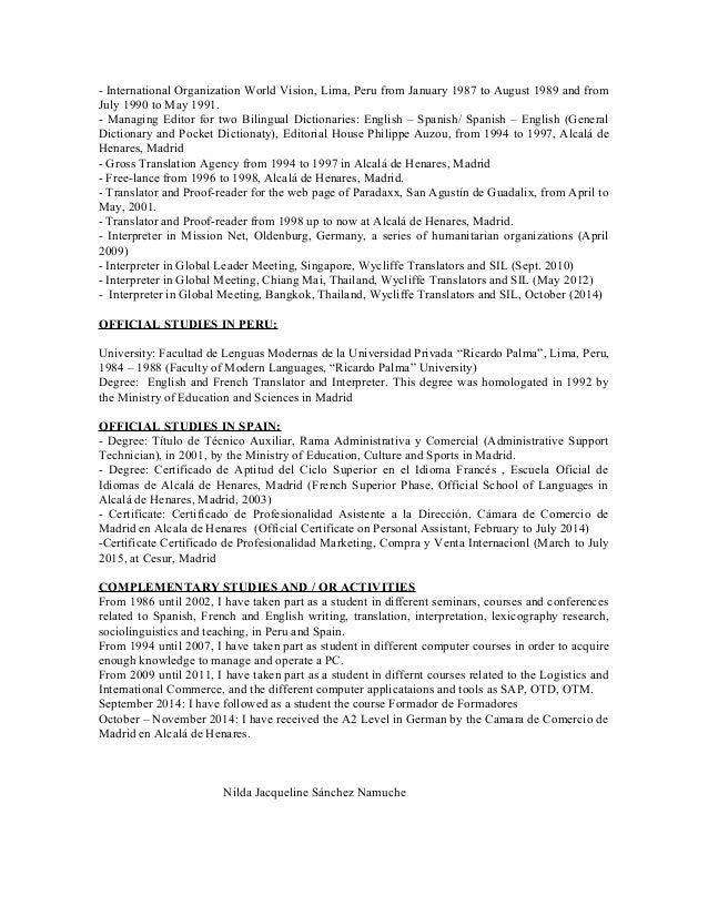 Nilda resume english 2 yadclub Gallery