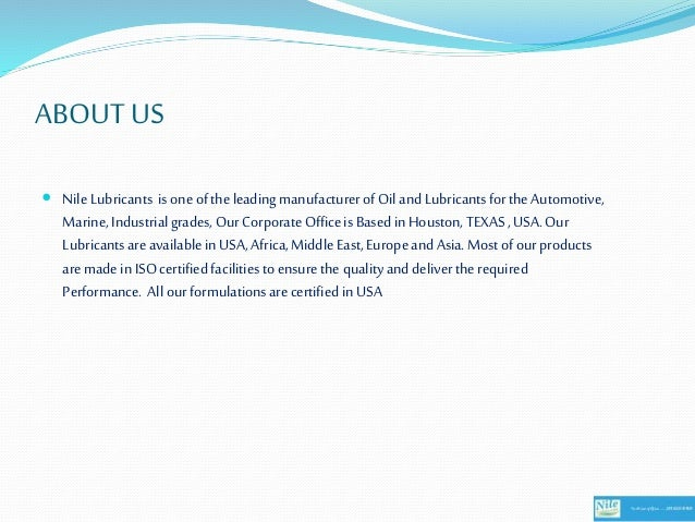 Nile lubricants distributors wanted in africa