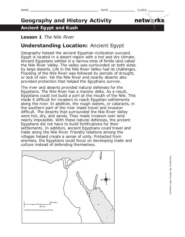 The history and geography of egypt