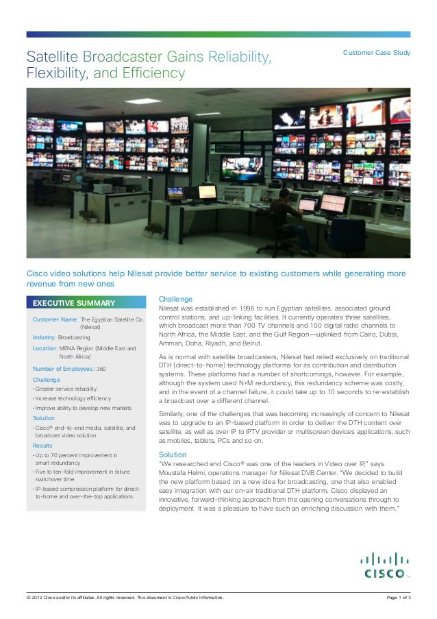 Satellite Broadcaster Gains Reliability,                                                                          Customer...