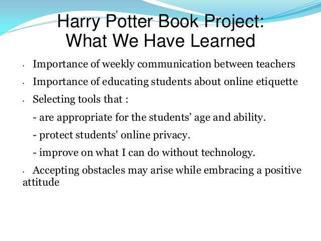 Harry Potter Book Age Appropriate : Blended learning going beyond a traditional classroom