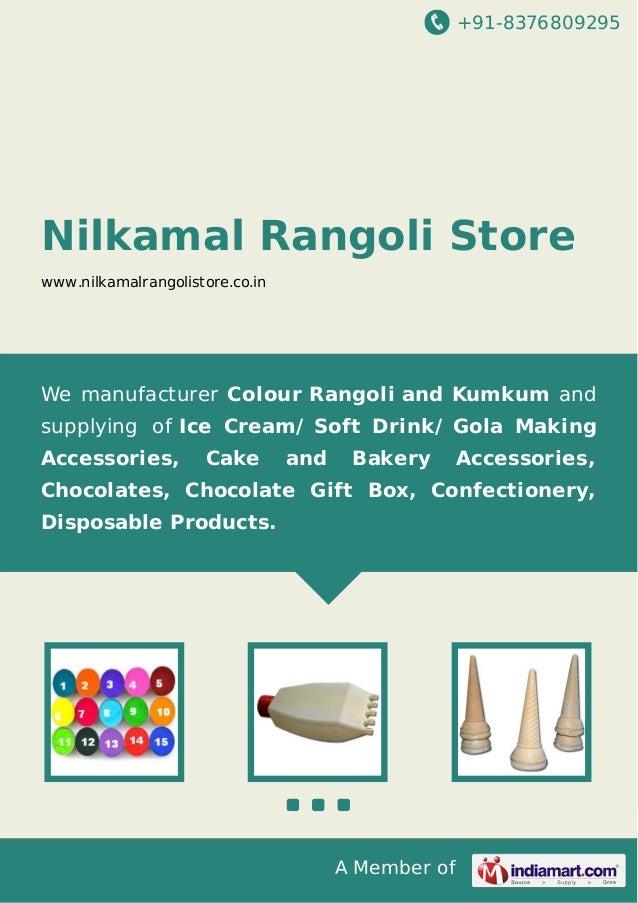 +91-8376809295  Nilkamal Rangoli Store www.nilkamalrangolistore.co.in  We manufacturer Colour Rangoli and Kumkum and suppl...