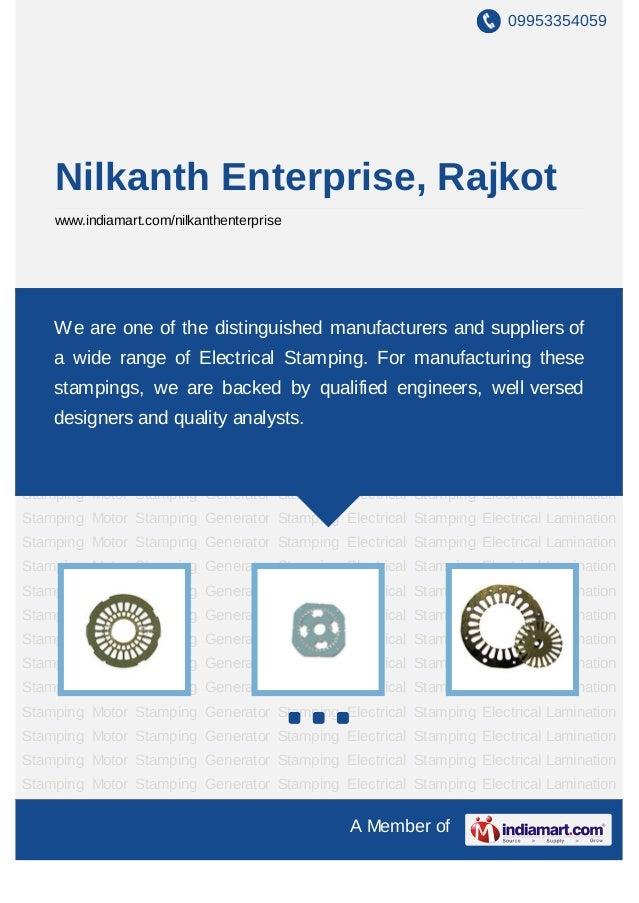 Nilkanth Enterprise Rajkot Electrical Stampings
