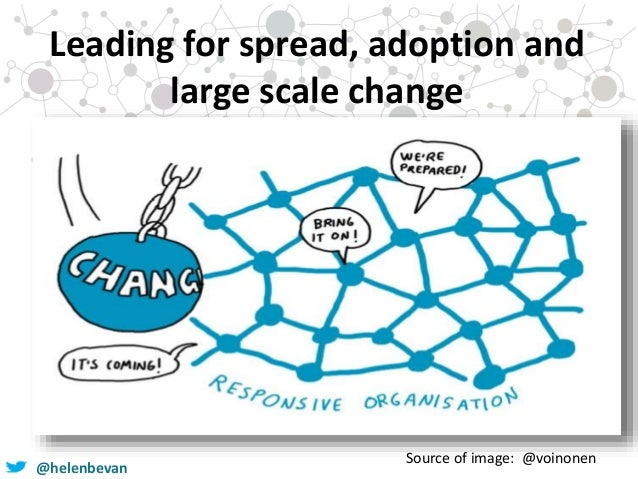 @helenbevan Leading for spread, adoption and large scale change Source of image: @voinonen