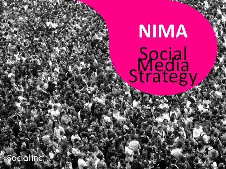 NIMA  Social  Media Strategy