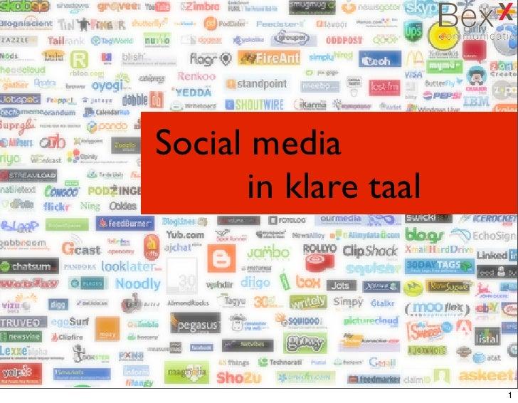 Social media    in klare taal                                1