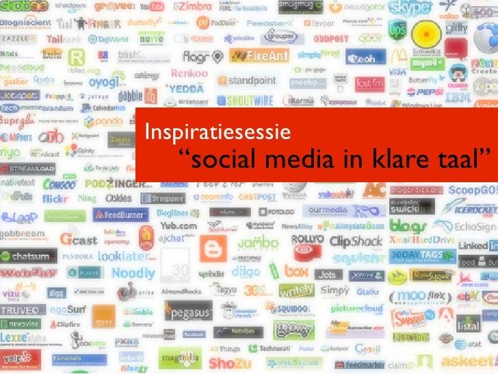 "Inspiratiesessie   ""social media in klare taal"""