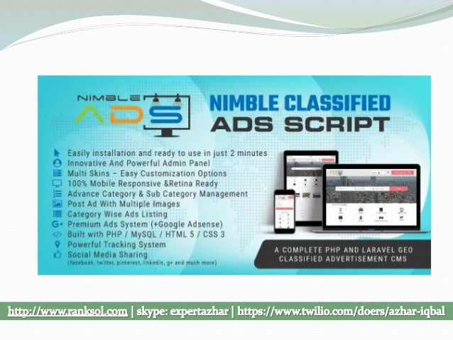 Nimble Classified Ads PHP Laravel Script - OLX Clone