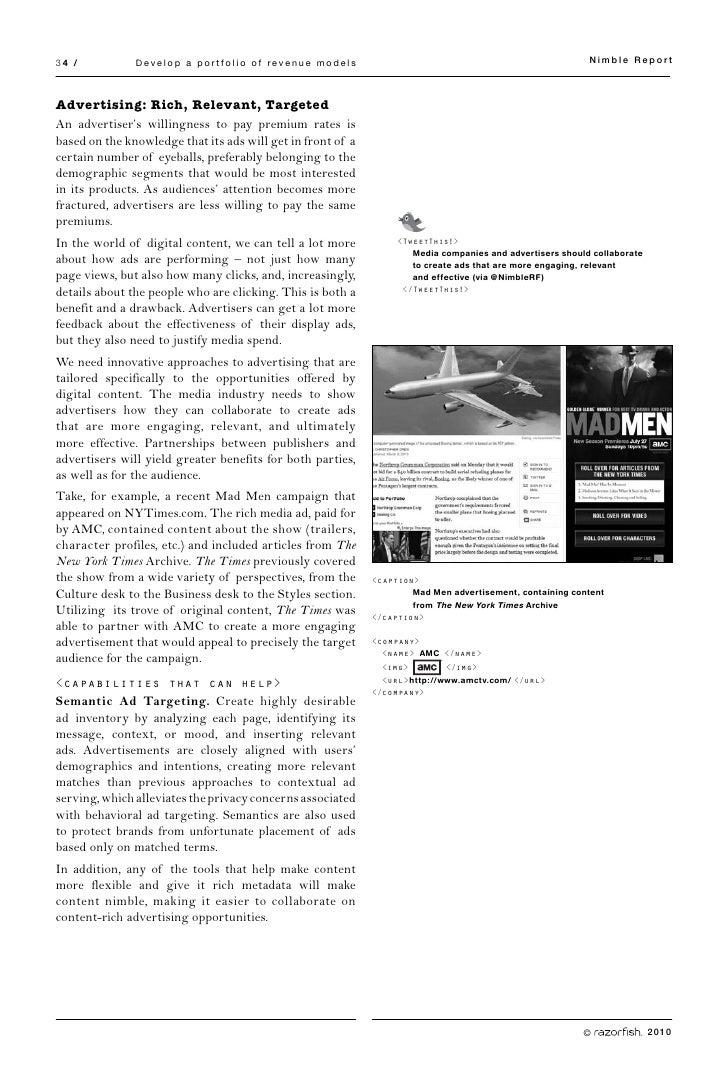 34 /           Develop a portfolio of revenue models                                                        Nimble Report ...
