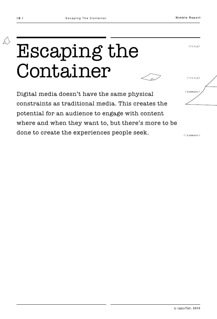 08 /            Escaping The Container               Nimble Report     Escaping the                                       ...