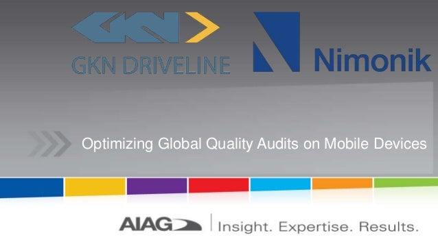 Implementing Global Quality Audits At A Tier 1 Auto Supplier