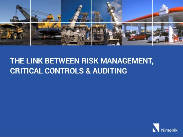 THE LINK BETWEEN RISK MANAGEMENT, CRITICAL CONTROLS & AUDITING