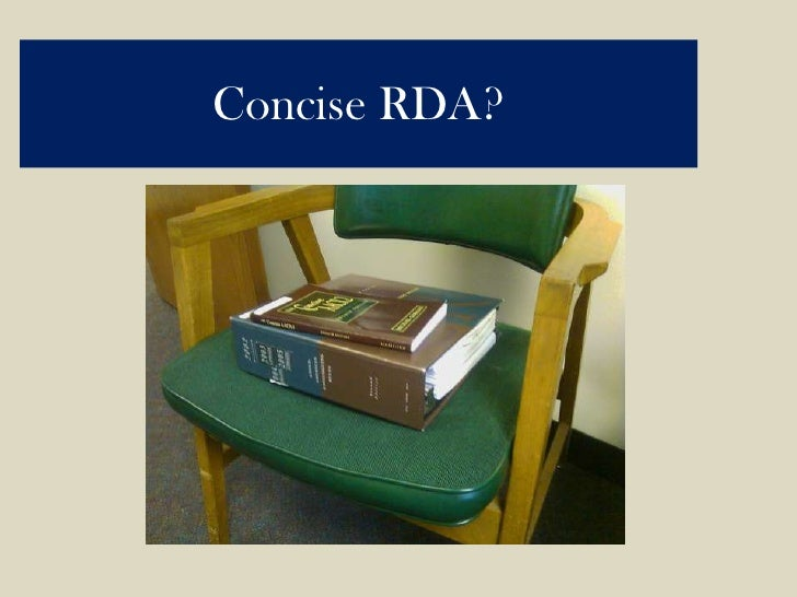 Concise RDA?<br />
