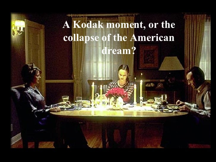 A Kodak moment, or the collapse of the American dream?