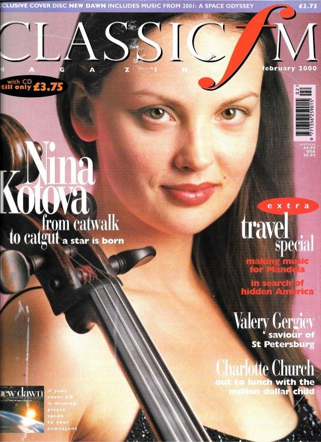 Nina Kotova: Classic FM Magazine Cover. Cover Story