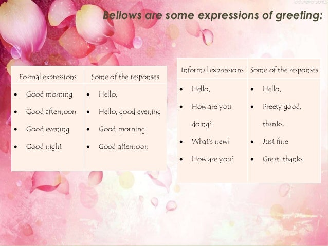 Expression of greeting and leave taking m4hsunfo