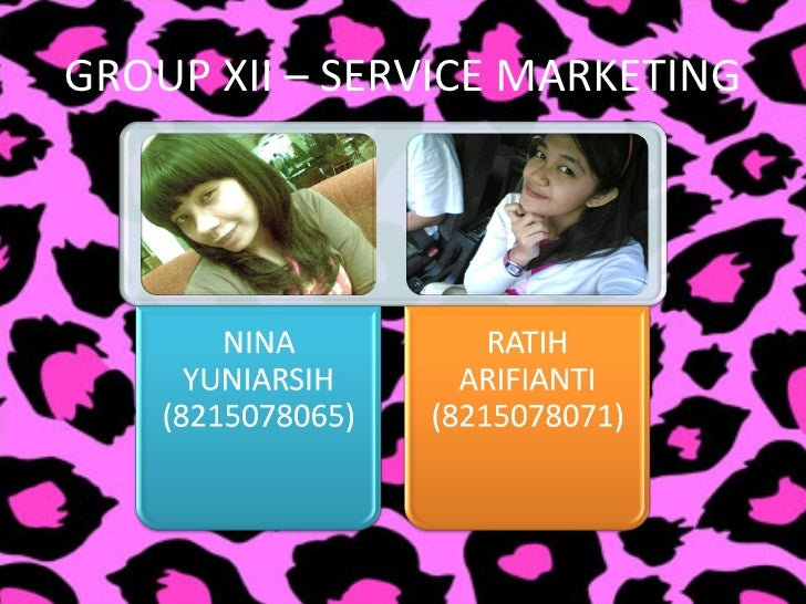 GROUP XII – SERVICE MARKETING